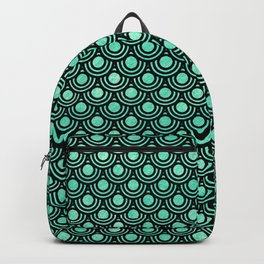 Mermaid Scales in Metallic Sea Foam Green Backpack