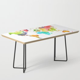 Watercolor World Coffee Table