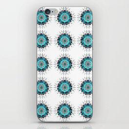 Rustic Turquoise Mandala Tile iPhone Skin