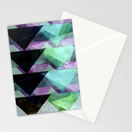 black, green & purple Stationery Cards