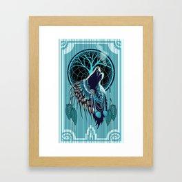 Wolf Indian Shaman Framed Art Print