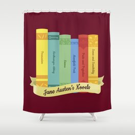 Jane Austen's Novels IV Shower Curtain
