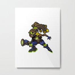 Lucio over Metal Print
