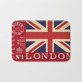 Union Jack Great Britain Flag Bath Mat