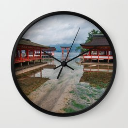 Miyajima Shrine at Rising Tide Wall Clock