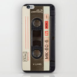 Retro 80's objects - Compact Cassette iPhone Skin