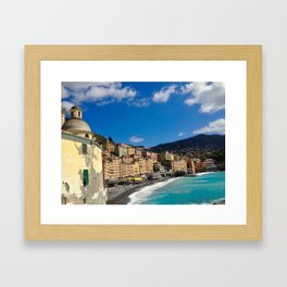 The Colors of Camogli Framed Art Print