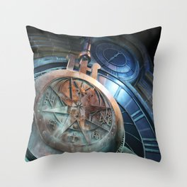 When Clock Strikes At Midnight Throw Pillow