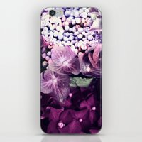 hydrangea iPhone & iPod Skins featuring Hydrangea  by Truly Juel