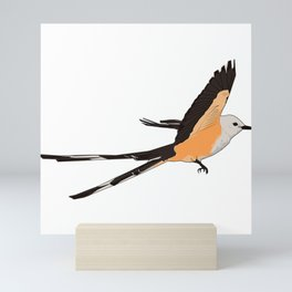 Scissor-tailed Flycatcher. Oklahoma State bird Mini Art Print
