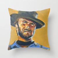 blondie Throw Pillows featuring Blondie by Buffalo Bonker