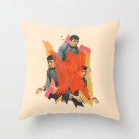 spock Throw Pillows featuring Spock by Iotara