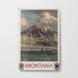 Montana Vintage Travel Poster Metal Print