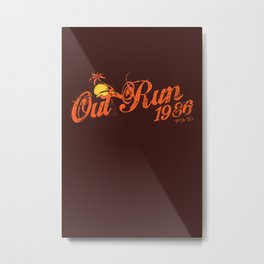 Out Run 86 Metal Print
