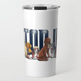 Doctor Who FanArt Dogs Travel Mug