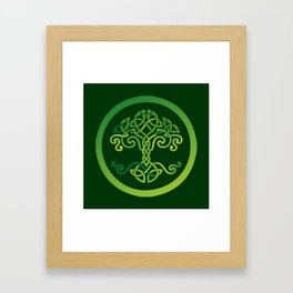 Celtic Wisdom Tree Framed Art Print