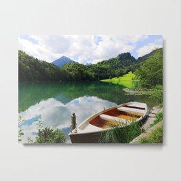 rowing boat on Alatsee Metal Print