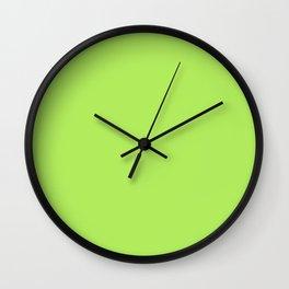 Inchworm - solid color Wall Clock