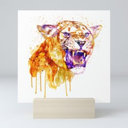 Angry Lioness Mini Art Print