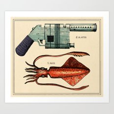 Squid Blaster Art Print