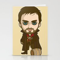 captain hook Stationery Cards featuring Captain Hook by Samtronika