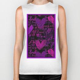 Kiss Me, Miss Me Purple Biker Tank