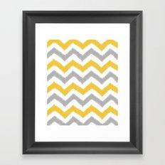 Chevron IKAT Framed Art Print