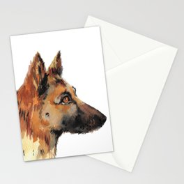 Daisy The German Sheperd - Cute dog  Stationery Cards