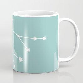 Gemini Zodiac Constellation - Teal Coffee Mug