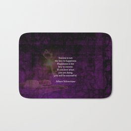 Happiness Is The Key To Success Uplifting Inspirational Quote Bath Mat