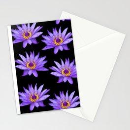 Lotus On Black Stationery Cards
