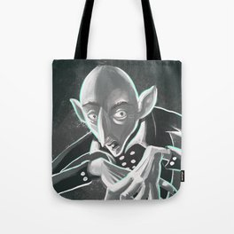 creepy spooky nosferatu Tote Bag