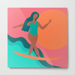 Surfin' it Metal Print