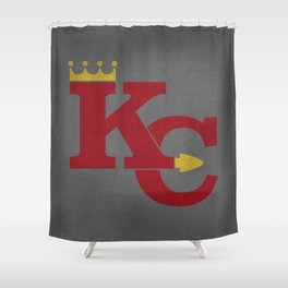 Kansas City Sports Red Shower Curtain