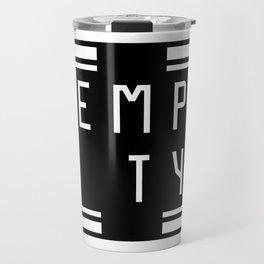 empty Travel Mug