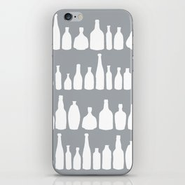 Bottles Grey iPhone Skin