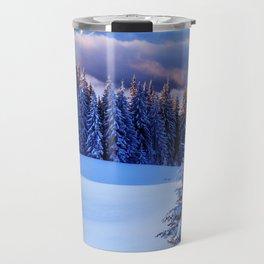Snow Trees Travel Mug