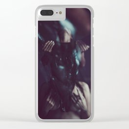 Inner devils ahead Clear iPhone Case
