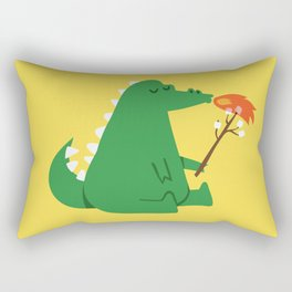 Dragon and Marshmallow Rectangular Pillow