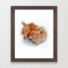 Every bunny needs some bunny Framed Art Print