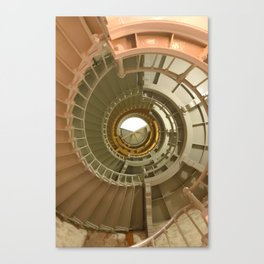 Gray's Harbor Lighthouse Stairwell Spiral Architecture Washington Nautical Coastal Canvas Print