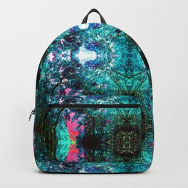 Flamingo and peacock in the swimming pool Backpack