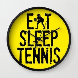 Eat Sleep Tennis Wall Clock