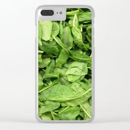 Spinach Clear iPhone Case