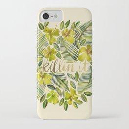 Killin' It – Tropical Yellow iPhone Case