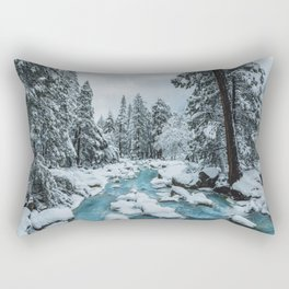 Blue Winter in Yosemite Rectangular Pillow