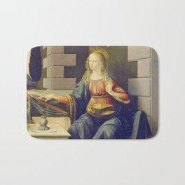 """Leonardo da Vinci """"Annunciation 2."""" Bath Mat"""