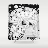 namaste Shower Curtains featuring Namaste by KCollins