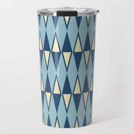 Mid Century Modern Diamond Pattern Blue 232 Travel Mug