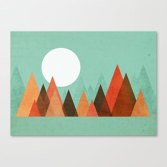 From the edge of the mountains Canvas Print